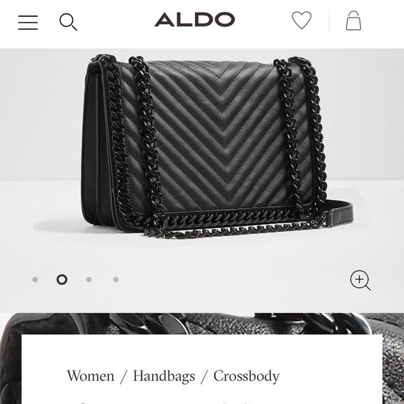 51f33995024 Aldo Handbags - Last Chance! Aldo greenwald black quilted bag